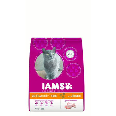 Iams Cat Proactive Health Adult Mature/Senior Chicken - 700g