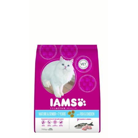 Iams Cat Proactive Health Adult Mature/Senior Hairball - 700g