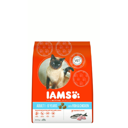 Iams Cat Proactive Health Adult Ocean Fish with Rice - 800g