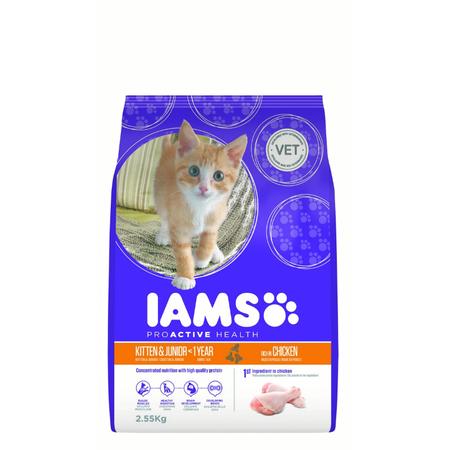 Iams ProActive Health Kitten and Junior Chicken Dry Kitten Food  2.55kg