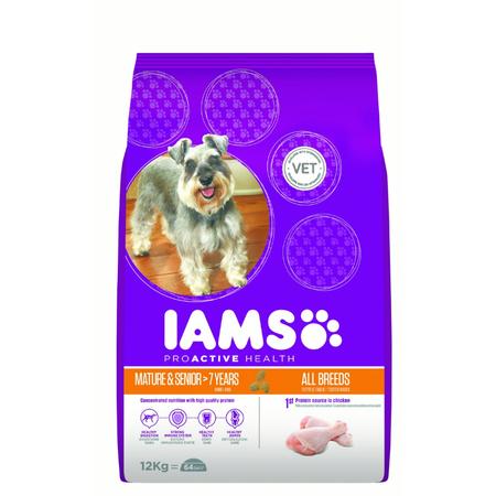 Iams Proactive Health Active Maturity Senior Dry Dog Food  12kg