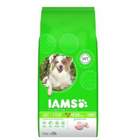Iams Proactive Health Adult Chunks Dry Dog Food  12kg