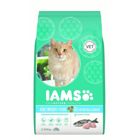 Iams Proactive Health Adult Indoor Formula Dry Cat Food  2.55kg