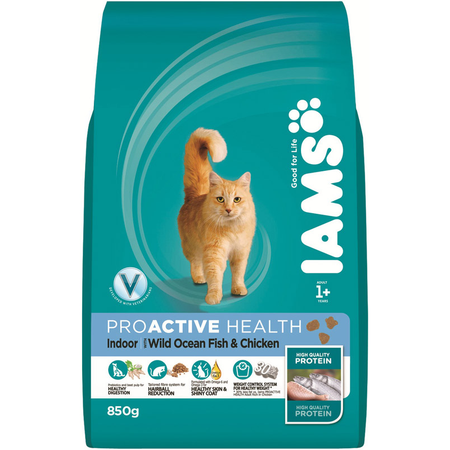 Iams Proactive Health Adult Indoor Formula Dry Cat Food  850gm