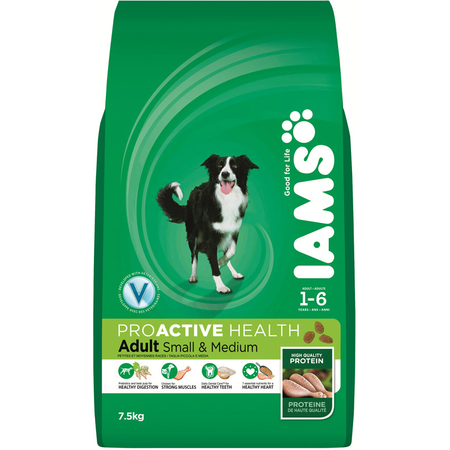Iams Proactive Health Adult Small and Medium Breed Dry Dog Food   7.5kg