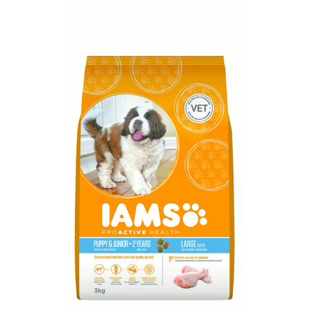 Iams Proactive Health Puppy Large Breed Dry Puppy Food  3kg
