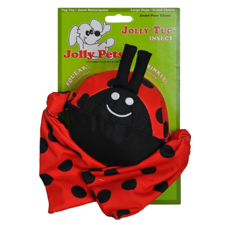 Jolly Pets Lady Bug Squeaky Dog Toy Red Medium