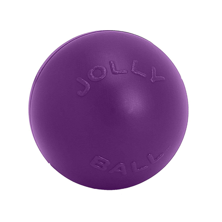 Jolly Pets Push N Play Dog Ball Toy  Purple 6In