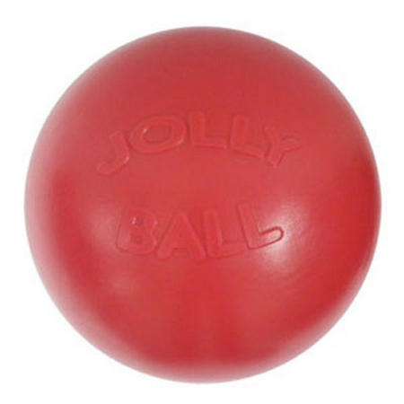Jolly Pets Push N Play Dog Ball Toy  Red 6In