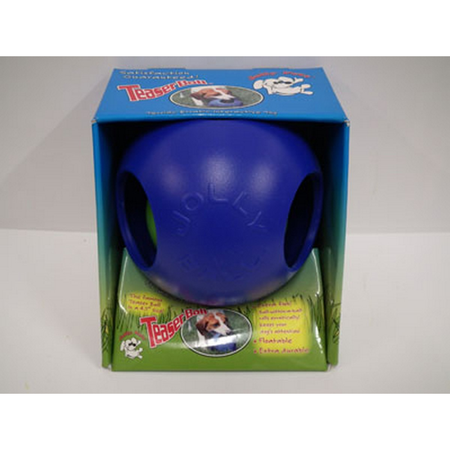 Jolly Pets Teaser Ball Dog Toy Blue 8In