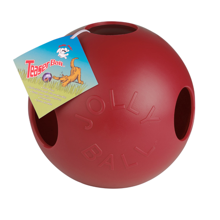 Jolly Pets Teaser Ball Dog Toy Red 4In