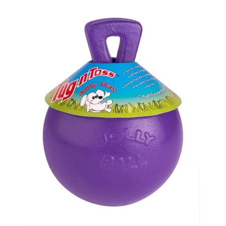 Jolly Pets Tug N Toss Dog Fetch Toy Purple 4.5In