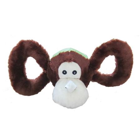 Jolly Pets - Tug A Mals - Plush Monkey - Sqeaky Dog Toy