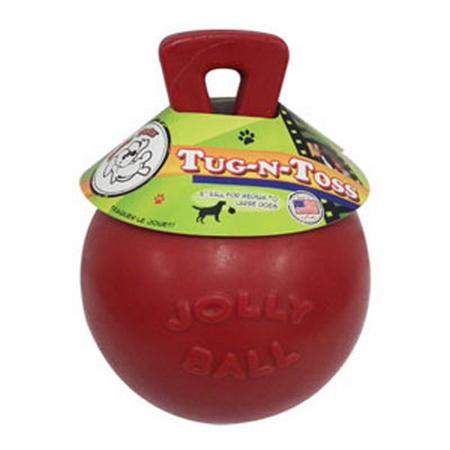 Jolly Tug n Toss Ball Red 6inch