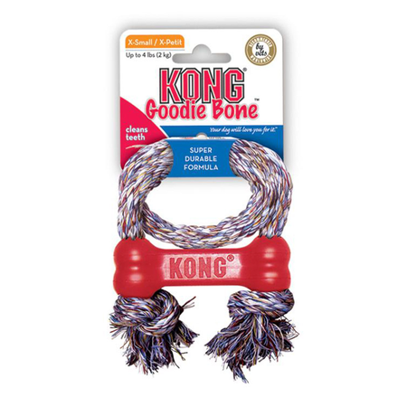 KONG Goodie Bone with Rope - Extra Small