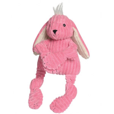 Knottie Bunny Soft Dog Toy Pink Large