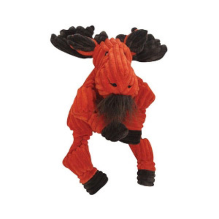 Knottie Moose Soft Dog Toy Orange Small