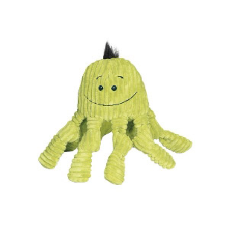 Knottie Octopus Soft Dog Toy Green Large