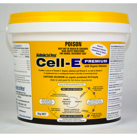 Kohnke's Own Cell E Premium Vitamin and Selenium Supplement for Horses  3kg