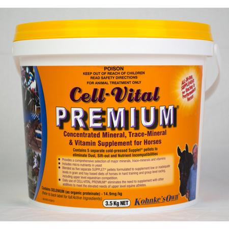 Kohnke's Own Cell Vital Vitamin and Mineral Supplement for Horses  3.5kg
