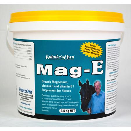 Kohnke's Own Mag E Magnesium Supplement for Horses  2.5kg