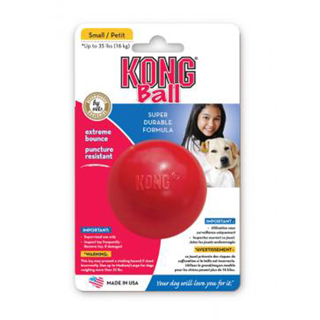 Kong Ball Rubber Dog Toy Red Small