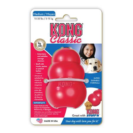 Kong Classic Treat Dispensing Dog Toy Red Medium