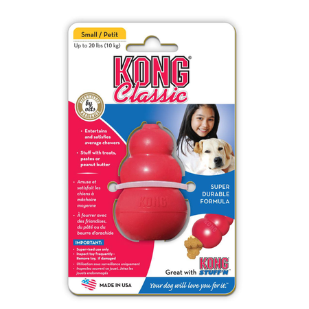 Kong Classic Treat Dispensing Dog Toy Red Small