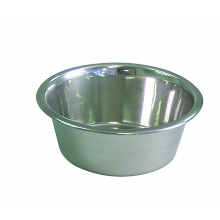 KraMar Stainless Steel Dog Bowl Silver 1.75L