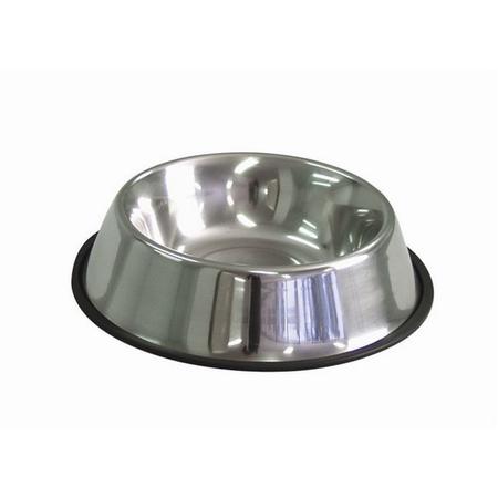 KraMar Stainless Steel Non Skid Tapered Side Dog Bowl Silver 900ml