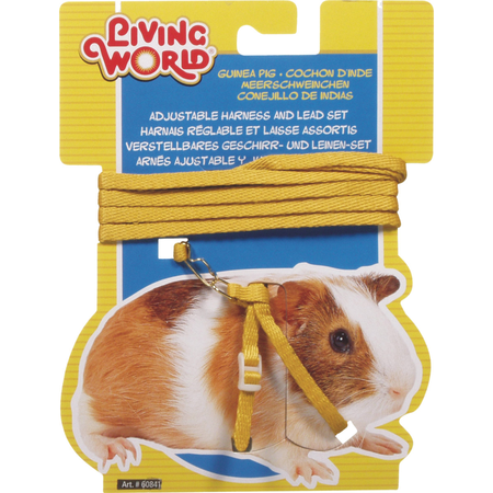 Living World Guinea Pig Harness and Lead Set Yellow