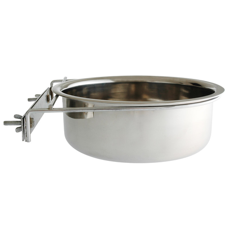 Masterpet Coop Dish with Clamp Bird Feeder Silver 23cm