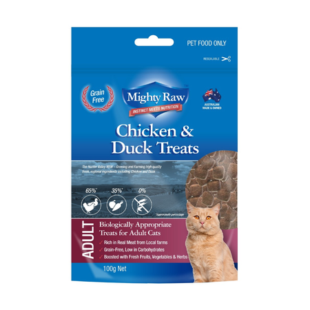 Mighty Raw Adult Cat Grainfree Treats - 100gm