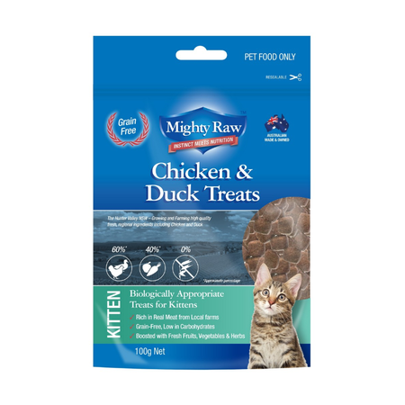 Mighty Raw Kitten Grainfree Treats - 100gm