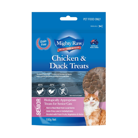 Mighty Raw Senior Cat Grainfree Treats - 100gm