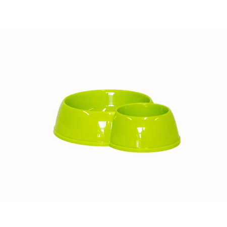 Moderna Double Eco Plastic Dog Bowl Green 450ml