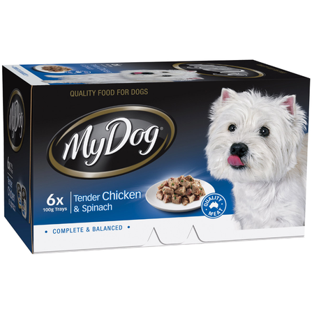 My Dog Chef Select Chicken & Spinach - Multipack 6 x 100gm
