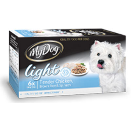 My Dog Light Tender Chicken Brown Rice & Spinach - Multipack 6x100gm