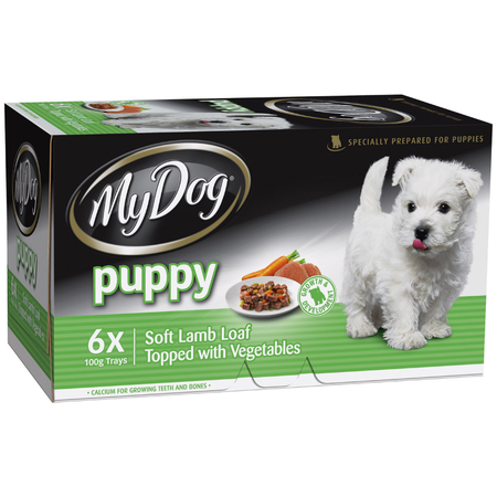 My Dog Puppy Lamb Loaf and Vegetables Tray Dog Food  6x100gm