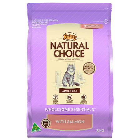 NUTRO Adult Cat Wholesome Essentials with Salmon - 3kg