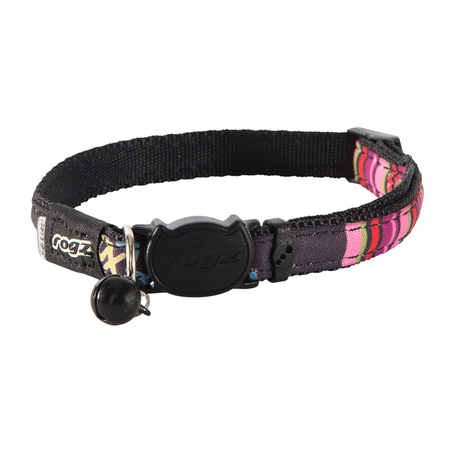 Neocat Safeloc Collar 11mm - Black Candystripes