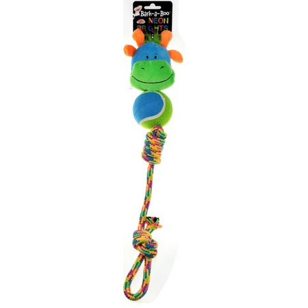 Neon Tennis Body Rope Tug Toy