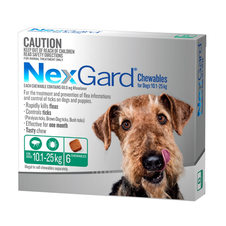 Nexgard Flea and Tick Treatment for Large Dogs 10.1kg 25kg  6pk