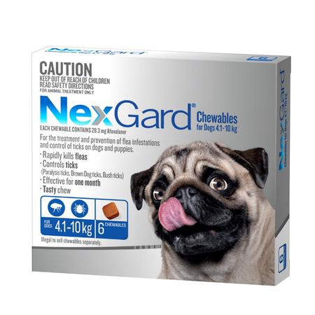 Nexgard Flea and Tick Treatment for Medium Dogs 4.1kg 10kg  6pk