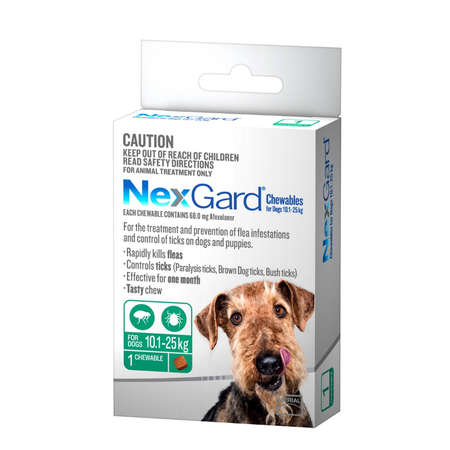 Nexgard Large 10.1 - 25Kg Dog Single