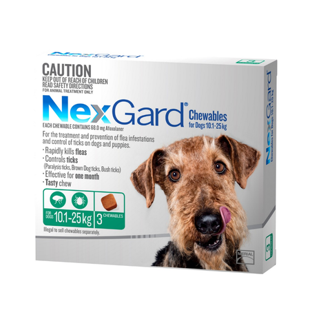 Nexgard - Flea and Tick Treatment for Large Dogs 10.1kg - 25kg