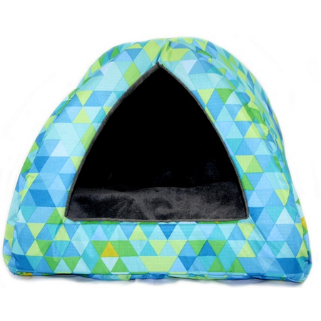 Nibble & Squeek Small Animal Igloo Blue