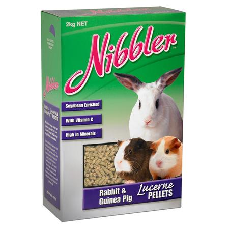 Nibbler Rabbit & Guinea Pig Lucerne Pellets - 2kg
