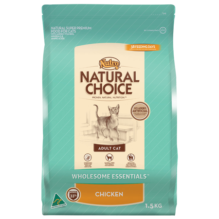 Nutro Natural Choice Adult Chicken Dry Cat Food  1.5kg