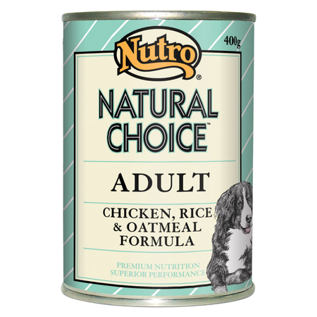 Nutro Natural Choice Adult Chicken Rice and Oatmeal 400gm
